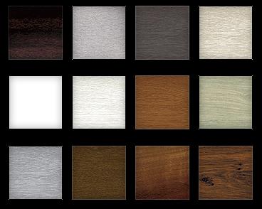 paleta kolorów okien